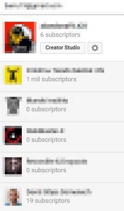 Seleccionar canal de Youtube