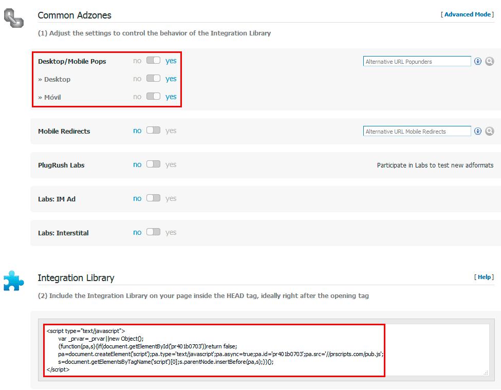 Como configurar PlugRush
