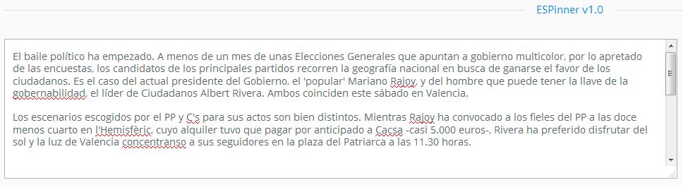 ESPinner, el mejor spinner en español