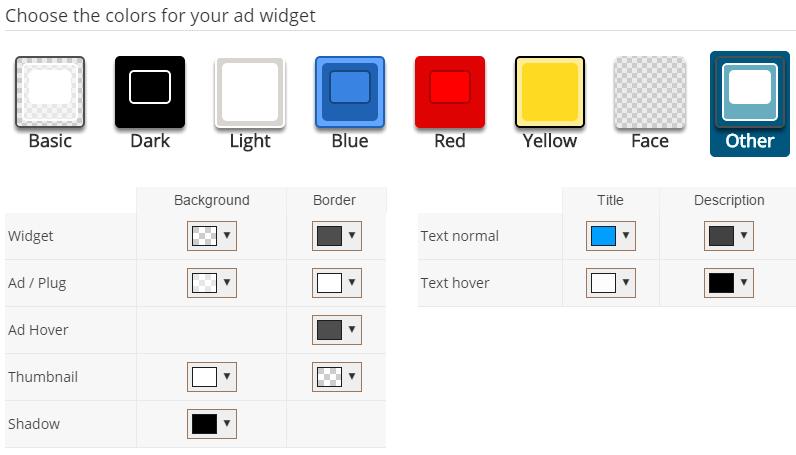 Como personalizar los colores de un widget