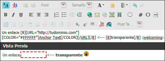 Backlink transparente en Forobeta