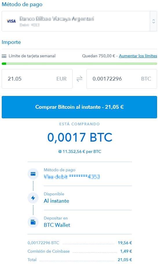 como comprar bitcoins en coinbase