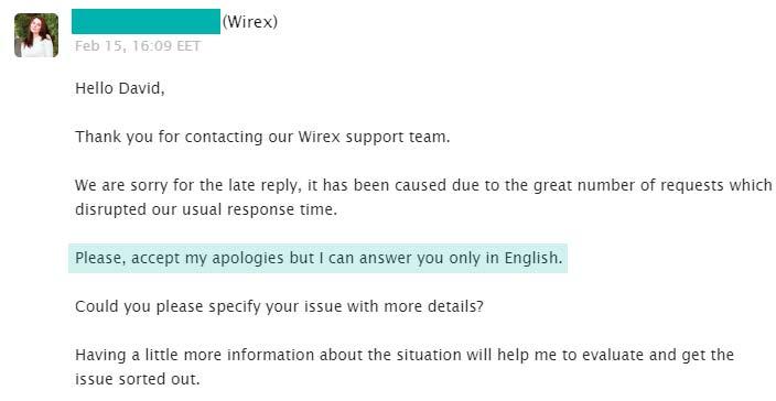 Wirex Soporte